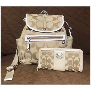Coach backpack & Wallet